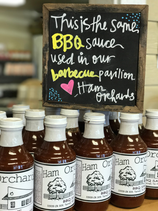 Jars of Ham Orchards BBQ Sauce