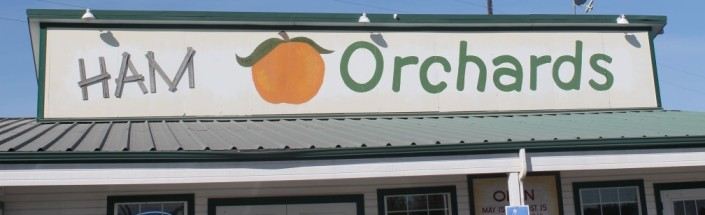 The Ham Orchards Farm Market Store Sign