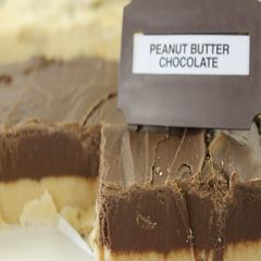 homemade Ham Orchard's peanut butter chocolate fudge