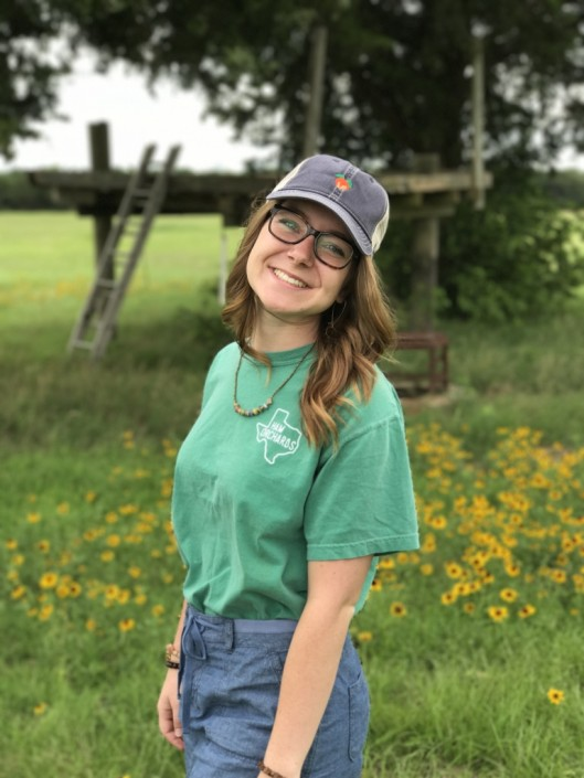 Girl exploring Ham Orchards